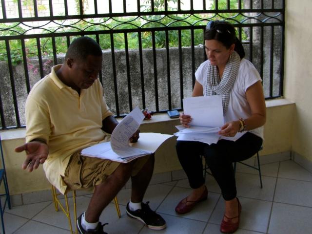 conferring about gefte's paperwork