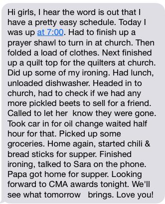 Nana's text