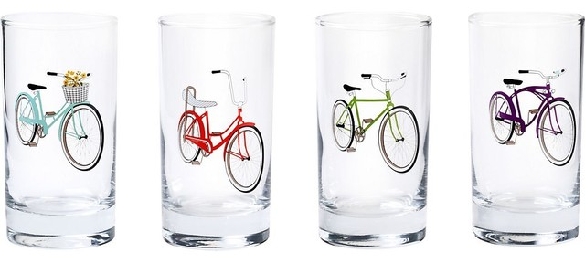 bicycle juice glasses