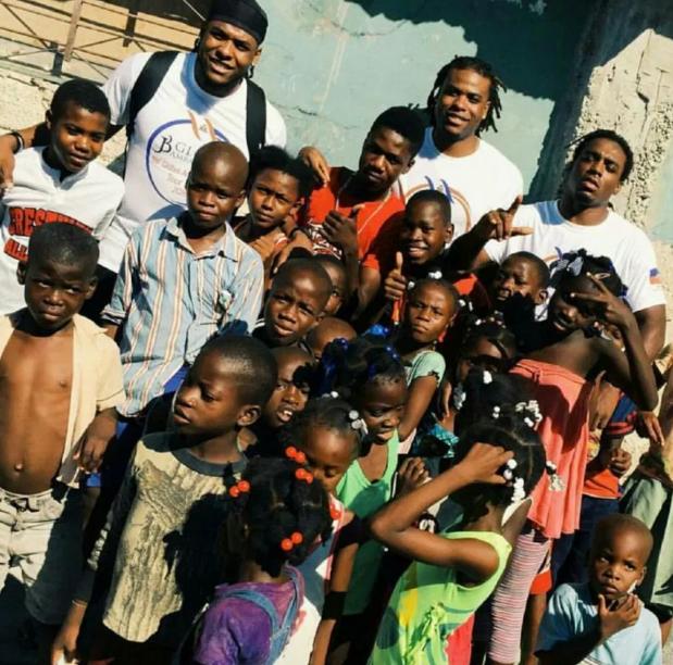 NFL Football player in Haiti